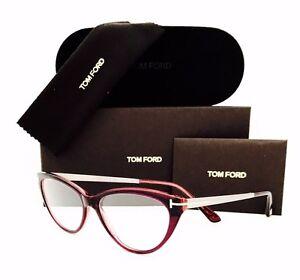 5dcad5963cbe New Tom Ford Eyeglasses TF 5354 075 Fuchsia Violet Cat Eye 53•14•140 ...