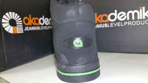 A532 A1532 Akademiks Boy/'s High Top Sneakers Black Red//Lime//Grey Size 13.5-7