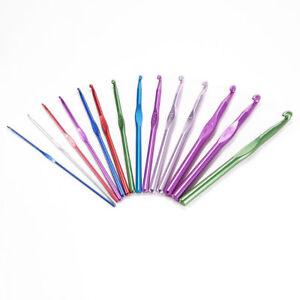 Crochets-Tricot-Laine-Alu-2-10-mm-Multicolore-16cm-14-Pcs-WT