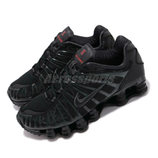check out d2bbb 730f5 Nike Shox TL Total Black Max Orange Mens Running Shoes Sneakers AV3595-002