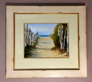 Original Watercolor Painting The Beach