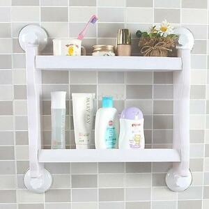 Image Is Loading Kitchen Bathroom Shelf Suction Cup Rack Organizer Storage