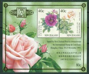 Block-69-I-NEW-ZEALAND-NEW-ZEALAND-China-1997-Shanghai-Floral-Roses-Mint
