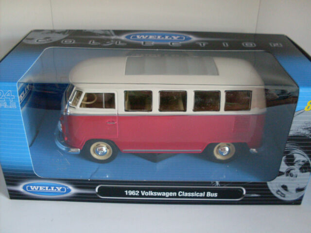 1962 Volkswagen Classical Bus Welly Car Model 1:24