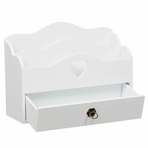 Beautiful Wooden Desk Letter Rack  with Drawer