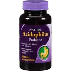 NATROL-Acidophilus-Probiotic-Probiotische-100-Kapseln-VERSAND-WELTWEIT