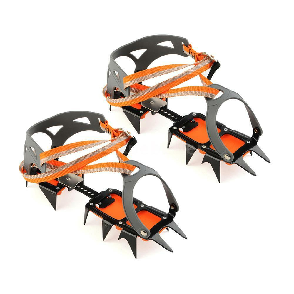 Pro  14-point Manganese Steel Climbing Gear Crampon Ice Grippers Traction N0E8  save up to 70%