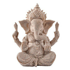 Handmade Sandstone Ganesha Buddha Elephant Statue Sculpture Figurine