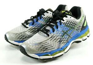 yksityiskohtaiset kuvat alennusmyynti lähemmäs Details about Asics Gel-Nimbus 17 $120 Men's Running Shoes Size 8.5 (2E)  Wide Gray Blue Black