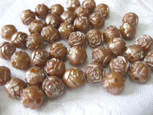 Farbe wählbar 50  Rosen-Perlen ca.9mm,Acryl A1.1
