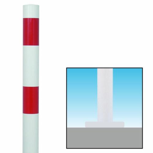 101871 Absperrpfosten Rot//Weiß Ø60mm zum Aufschrauben