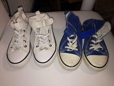 2 Paar Schuhe Für Den Frühling Stoffschuhe Größe 28 Blau Und Weiß Gebraucht Grade Produkte Nach QualitäT