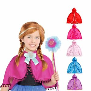 Princesse Anna Cape Capelet Manteau Inspiré Enfant Fille Dress Up Costume Party 3-10-afficher Le Titre D'origine Brillant En Couleur