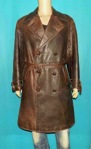 Canadian Long Vintage Year 1940 Brown Leather Fold