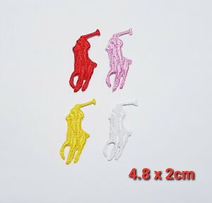 SPORTS BRAND LOGO HORSE POLO  IRON ON/SEW ON EMBROIDERED PATCH BADGE