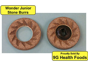 Wonder-Junior-Stone-Burrs-NEW-Replacement-Heads-Wondermill-Hand-Grain-Mill