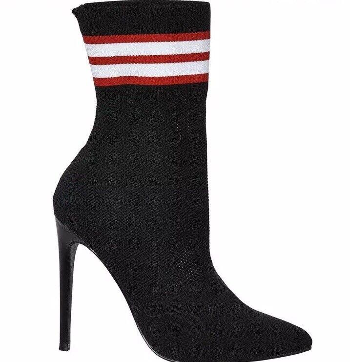 con il 100% di qualità e il 100% di servizio Steve Madden Donna Neri con Tacco secolo Sock Stivaletti Rrp Rrp Rrp  Taglia 5 vendita  vendite online