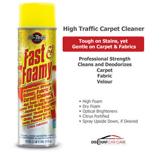 Fast Amp Foamy Carpet And Fabric Cleaner Heavy Traffic