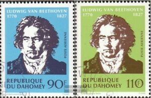 kompl.ausg. Dahomey 437-438 Gestempelt 1970 Ludwig Von Beethoven Refreshing And Enriching The Saliva