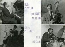 """""""Bud POWELL, Barney WILEN, Eric PETERS, G.T. HOGAN"""" Photo cartonnée CHENZ 1959"""
