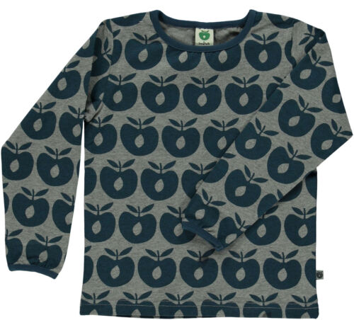 pomme Print Apple gris T 98 104 110 Smafolk US Chemise manches longues All-Over