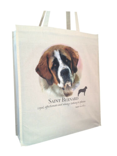 b Cotton Shopping Bag Tote with Gusset for Xtra Space Saint Bernard