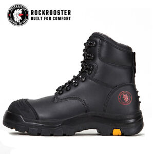 8a6942fcef4 Details about ROCKROOSTER Men's Lace-up Steel Toecap Waterproof Safety Work  Boots Knox AK245