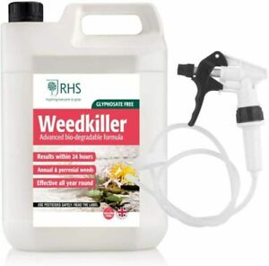 5L Industrial Weed Killer Strong Professional Glyphosate Free Long Hose Trigger