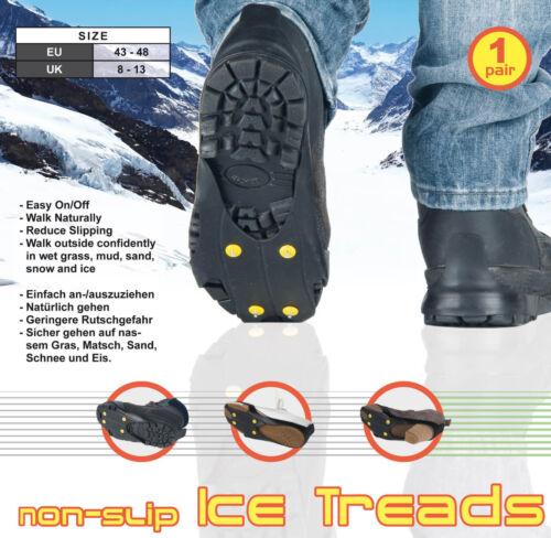 boue herbe mouillée Unisexe Antidérapant ice treads confiance Marcher dans le sable Snow /& Ice