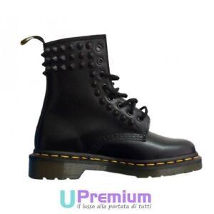 Patate sfocato Esecutore  Dr. Martens Black Studs Black Ceramic Cone High [Custom product] shoes |  eBay