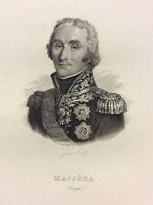 Maréchal André Masséna estampe de 1847 France