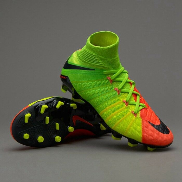 Nike Junior Hypervenom Fantasma 3 FG Calcetín Fútbol botas Talla Uk 4 Acc Flyknit