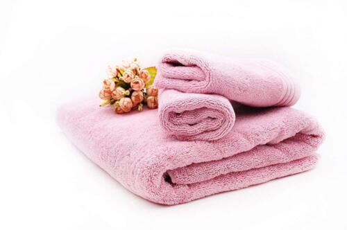 Serviette sauna serviette coton 580g/m² 78x150 Cm Wow Neuf ROSA Fourscom 3012r