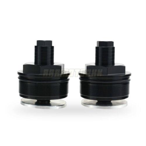 Front Fork Caps Preload Adjuster Bolts 49mm For Harley Davidson FXD FXDWG V-Rod
