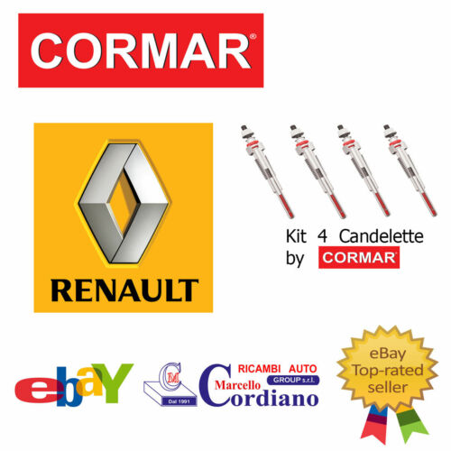 KIT 4 CANDELETTE RENAULT SCENIC II 1.9 DCI 88KW 120CV DAL 2003 /> GN018