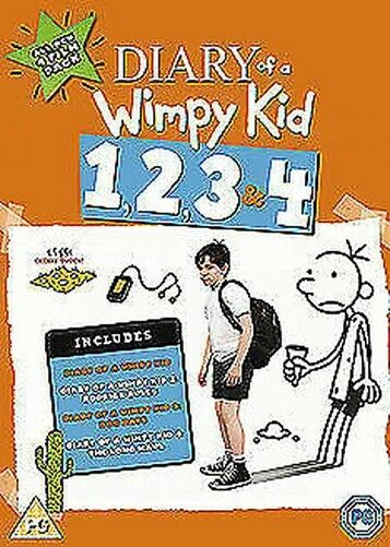 Diary Of a Wimpy Kid 1 a 4 DVD Nuevo DVD (8452101000)