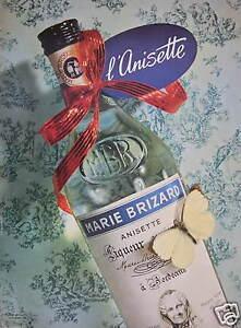 PUBLICITE-DE-PRESSE-1956-MARIE-BRIZARD-L-039-ANISETTE-LIQUEUR