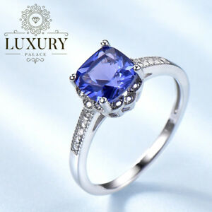 Tanzanite-Gemstone-Solid-925-Sterling-Silver-Solitaire-Engagement-Ring-for-Women