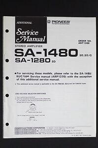 Pioneer-SA-1480-SA-1280-Original-Stereo-Amplifier-Additional-Service-Manual-O115