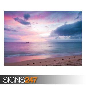 TWILIGHT-ISLAND-BEACH-SUNSET-3239-Beach-Poster-Poster-Print-Art-A1-A2-A3-A4