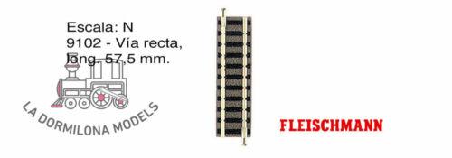 c96 - NUEVO long ESCALA N 57,5 mm FLEISCHMANN 9102 Vía recta