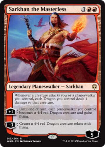 4x Sarkhan the Masterless NM-Mint English War of the Spark MTG Magic
