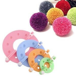 8PCS-4-formati-Fluff-Ball-Weaver-PomPom-Maker-Kit-telaio-per-maglie-PJ