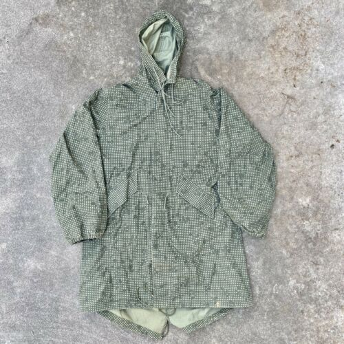 Military Army Parka Night Green Camouflage Vintage
