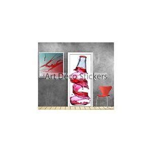 Chargement De Lu0027image En Cours Sticker Pour Porte Deco Cuisine  Bouteille Ref 729