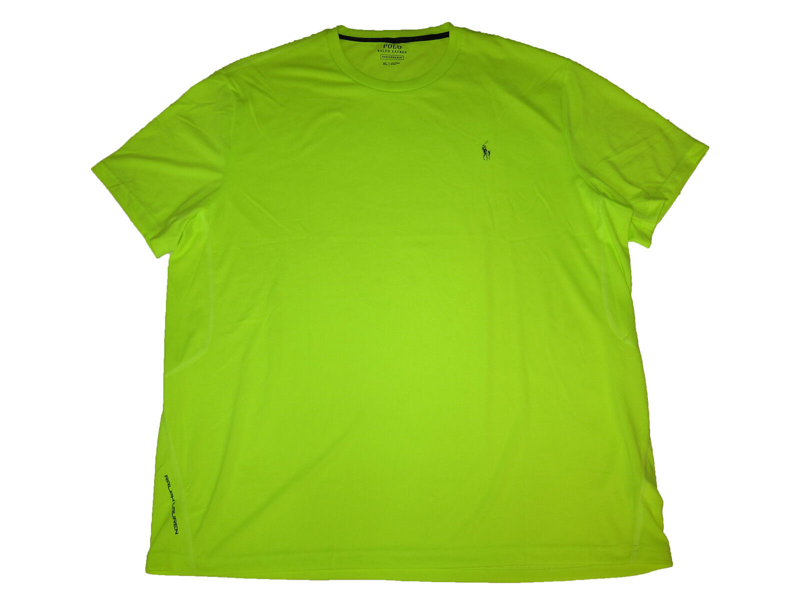 Polo Ralph Lauren Bright Neon Yellow Athletic Cycle Active Shirt Gym Apparel XXL