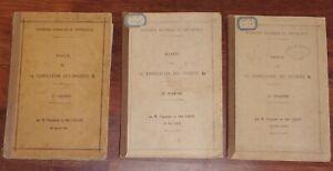 Lacape-NOTE-SUR-LA-FABRICATION-DES-POUDRES-B-1927-explosifs-Poudrerie-3-tomes