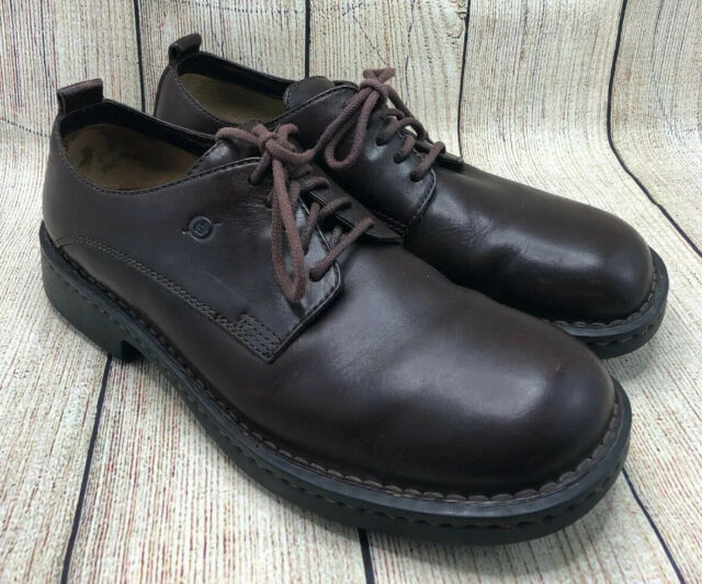 Born Brown Leather Lace Up Oxford Casual Comfort Jeans Shoes Men's Size 12