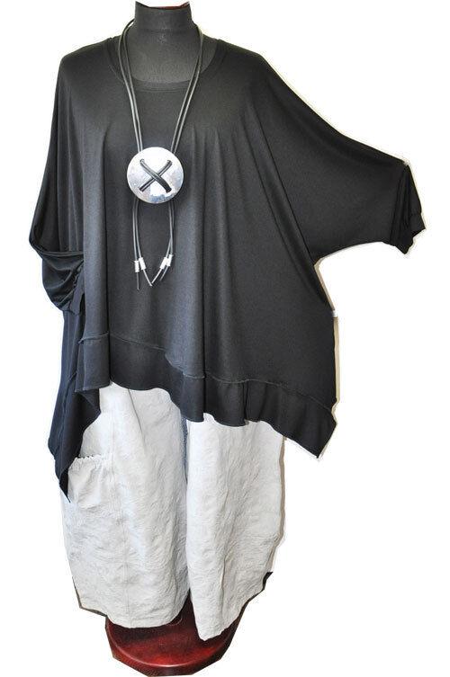 Look a Strati Raffinato Raffinato Raffinato Zipfel-Bänder-Tunika-Shirt Onda 15cb48