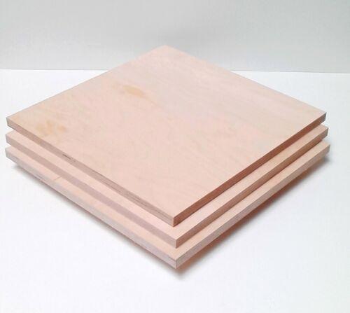 3 Stück 18mm Sperrholzplatten Multiplex Birke 30x30cm groß.Tischlerei Qualität.